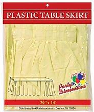 Party Maße Single Zählen Kunststoff Tisch Rock, 29von 14-feet, hellblau gelb