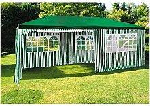 Party-Pavillon 6x3m Grün-Weiß Gartenpavillon