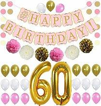 Party-Set zum 60. Geburtstag – Pink Gold und