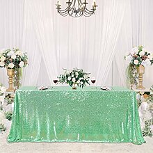 Party-Tischdecke mit Pailletten, 228,6 x 228,6 cm,
