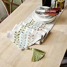 Party Tischläufer Beige Tischdecke Mit Quaste