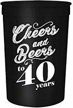 "Partybecher mit Aufschrift ""Cheers and Beers to"