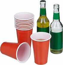 Partybecher-Set ClearAmbient Farbe: Rot