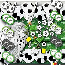 Partydeko Fußball Dekoset Grundausstattung