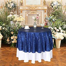 PartyDelight Tischdecke Squin, plastik, blau, R-50