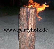 partyholz.de 2 Stück Schwedenfeuer/Baumfackel XXL