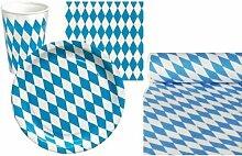 Partyset Bayrisch Blau Weiss Dekoration Bayern