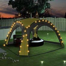 Partyzelt mit LED und 4 Seitenwänden 3,6 x 3,6 x