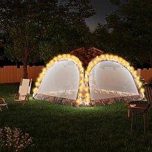 Partyzelt mit LED und 4 Seitenwänden 3,6x3,6x2,3