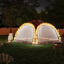 Partyzelt mit LED und 4 Seitenwanden 3,6x3,6x2,3 m