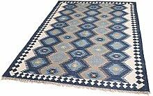 Parwis Zebulon 100x150cm, blau, Orientteppich für