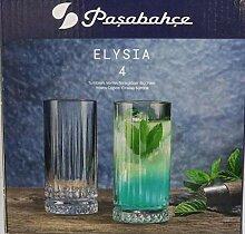 Pasabahce 500662 Elysa Gläser aus Glas Long Drink