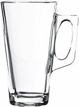Pasabahce 55249 Vela Kaffeeglas mit Henkel, 380