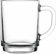 Pasabahce 55329 Bremen Teeglas mit Henkel 255 cc,