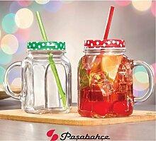 Pasabahce 80388Glas mit Henkel, Schraubdeckel
