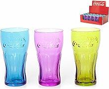 Pasabahce Coca Cola Becher Sortiert, Glas,