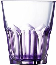 PASABAHCE Set 12 Gläser verrückt Farbe lila CL30 Glas Weinglas und Kelch