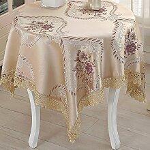 PASAJ Europäische Nachttisch Tischdecke Beige