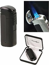 Passatore Zigarren Feuerzeug Lack schwarz 3fach