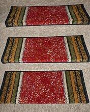 Passende Stufenmatten zum Läufer 8 er Set rechteckige Form - Treppenmatte