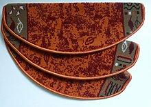 Passende Treppenmatte Teppich zum Läufer Terra 1066 12 er Set halbrunde Form