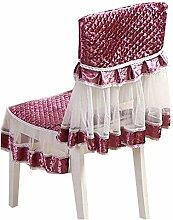 Pastorable Einfach & Gitter Esszimmer Stuhl Schonbezug, Schokolade