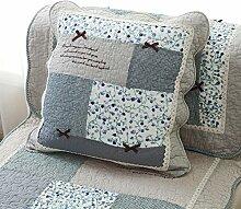 Pastoral Baumwollkissen/Quilting Stoff Sofakissen/Continental Bett Kissenbezug-ein-R 45x45cm(18x18inch)VersionB