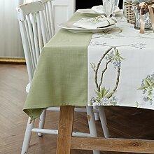 Pastoral Blume Spleißen Tischdecke,Tabelle Tuch Stoff Tischdecke-B 140x220cm(55x87inch)