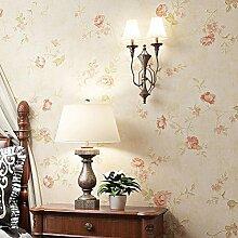 Pastoral Blumen Vlies Tapete Wohnzimmer Schlafzimmer 86234 , Yellow
