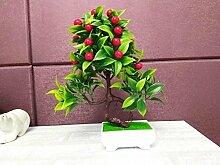 Pastoral Home Feng Shui Lucky Künstliche Blumen Pflanze (sehr viel Farbe) Simulation Dekoration Dekorative Kunststoff Bonsai Desktop (Multi-Color) , G