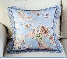 Pastoral Pillowcase,Jane European Style By Bag Cover,Sofa Car Square Pillow Bed Pillow Pillow Pillow-B 45x45cm(18x18inch)VersionA