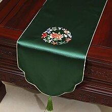 Pastoral Stickerei-Tisch Flag Tischdecke Kaffeetischdecke Bett Flagge Tischset Tischdecken Tuch Tischfahne ( farbe : # 7 , größe : 33*230cm )