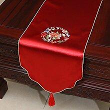 Pastoral Stickerei-Tisch Flag Tischdecke Kaffeetischdecke Bett Flagge Tischset Tischdecken Tuch Tischfahne ( farbe : # 5 , größe : 33*180CM )