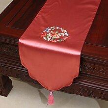 Pastoral Stickerei-Tisch Flag Tischdecke Kaffeetischdecke Bett Flagge Tischset Tischdecken Tuch Tischfahne ( farbe : # 2 , größe : 33*180CM )
