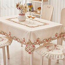 Pastoral Sticktuch Tischdecken, Europäische Tischdecken, Couchtisch Tuch, Tischdecken , #1 , 105*155cm