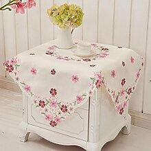 Pastoral Sticktuch Tischdecken, Europäische Tischdecken, Couchtisch Tuch Tischfahne, Wohnzimmer Tischdecken , #1 , 130*175cm