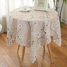 Pastoral Tuch wasserdichte Tischdecke, Anti-Öl-Tee Tuch, quadratische kleine Tischdecke Wohnzimmer runde Tischdecken , #2 , 90*90cm