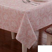 Pastoral wasserdichte tischdecke/table tisch tischdecke/plastiktisch mat-Rosa 100x160cm(39x63inch)