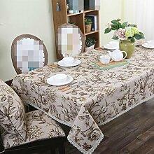 Pastoral Wind Baumwoll Leinen Tischdecke, Tisch Tisch Tischdecke, Tischdecke Stoff rechteckig rund , #3 , 90*90cm