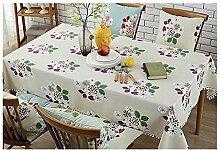 Pastoral Wind Baumwoll Leinen Tischdecke, Tisch Tisch Tischdecke, Tischdecke Stoff rechteckig rund , #2 , diameter 140cm