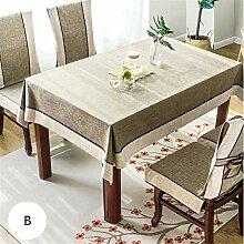 Pastorale Baumwolle Leinen Tischdecke Moderne