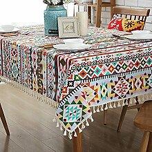 Pastorale Baumwolle Tischdecke/Tuch/Leinen Spitze Tischdecke/ Quadrat Runde Tischdecke/Tischdecke decke/ Computer Schreibtische bedeckt Handtuch-A 100x140cm(39x55inch)
