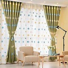Pastorale bestickte Gardinen/ Wohnzimmer Schlafzimmer Fenster/Schattierung und dicken Stoff Vorhänge-A 150x270cm(59x106inch)