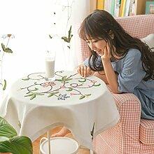 Pastorale bestickte Tischdecke/Bestickte Baumwolle und Leinen Tischdecke/Abdeckung Tuch/ nach Hause Nähen/ European-Style Computer-Tischdecke-A 200x150cm(79x59inch)