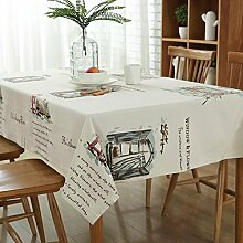 Pastorale Graffiti Muster Tischdecken Englisch