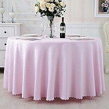 Pastorale Runde Tischdecke Tuch Hotel Couchtisch Bankett Hochzeit Tischdecke,Pink-diameter280cm