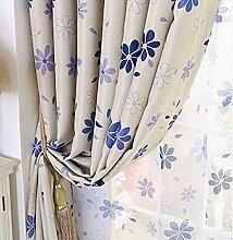 pastorale sieben-Blatt-Blume Vorhang/Total Blackout Schlafzimmer Wohnzimmer Fenster Rollo-C 200x270cm(79x106inch)