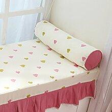 Pastoralen Stil Kissen PP Baumwoll-Kissen Sofa-Bett rundes Bett-A 60x16cm(24x6inch)