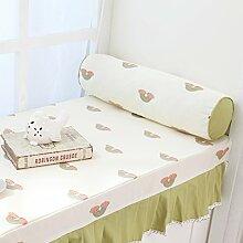 Pastoralen Stil Kissen PP Baumwoll-Kissen Sofa-Bett rundes Bett-C 60x16cm(24x6inch)