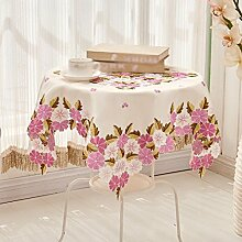 Pastoralstickerei Tuch Tischdecken, Europäische Tischdecken, Couchtisch Tuch Tischfahne, Tischdecken , #1 , diameter 145cm
